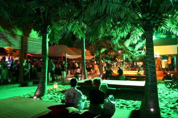 Rappongi Beach club at night