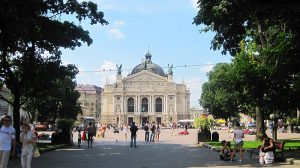 Lviv in summer: crowded with domestic tourists, void of anyone in the age range of 18 to 28.