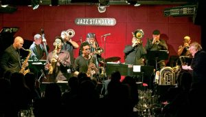 Inside the Jazz Standard on 116 Street.