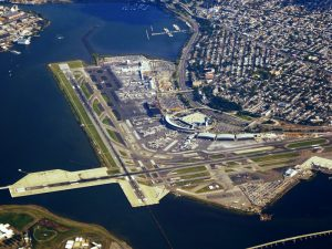 Aerial view of LaGuardia Airport, New York City