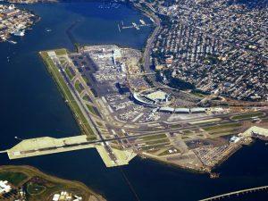 Aerial view of LaGuardia Airport, New York City