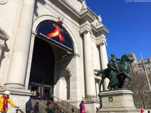 Entrance to the Museum of Natural History in Manhattan.