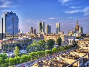 Neither London, nor Moscow. This is up and coming Warsaw, Poland.