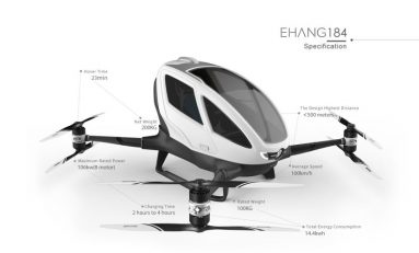 Ehang 184 - The World's First Manned Drone