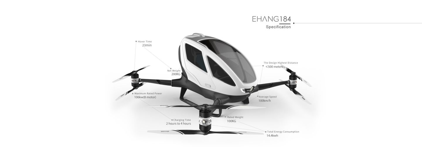 Ehang 184 – The World's First Manned Drone