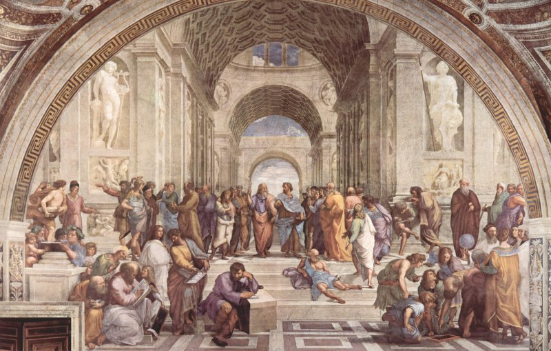 One of the most prominent pieces of Renaissance art: Raffael's (1483 - 1520) fresko The School Of Athens | Photo: Wikimedia Commons