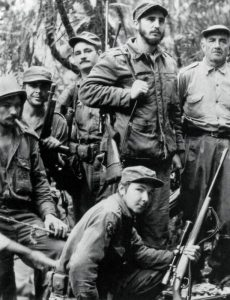 Fidel Castro and guerilleros in Cubas 'Montanas' (1956