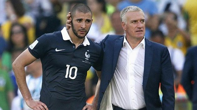 Sorry, but defiant over not-seleting Benzema for the Euro 2016: Didier Deschamps (right).