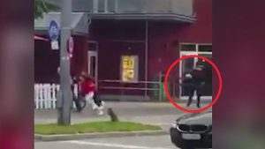 "Shooter Ali Sonboly opening fire on pedestrians outside a Munich McDonald's. Several days prior to his attack Sonboly had also tried to lure victims to the fast food place through posts he made from a fake facebook account: "" I am giving away anything you want as long as it's not too expensive,"" Sonboy wrote, posing as a girl with the name of ""Selina Akim"" on the social media network Facebook. Photo: YouTube / Focus"